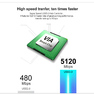 ORICO M3H4 Aluminum 4 Port Super Speed USB3.0 Hub VL812 Controller for Mac PC