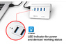 ORICO M3H4 Aluminum 4 Port Super Speed USB3.0 Hub VL812 Controller for Mac PC