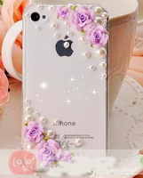 iPhone case crystal flower